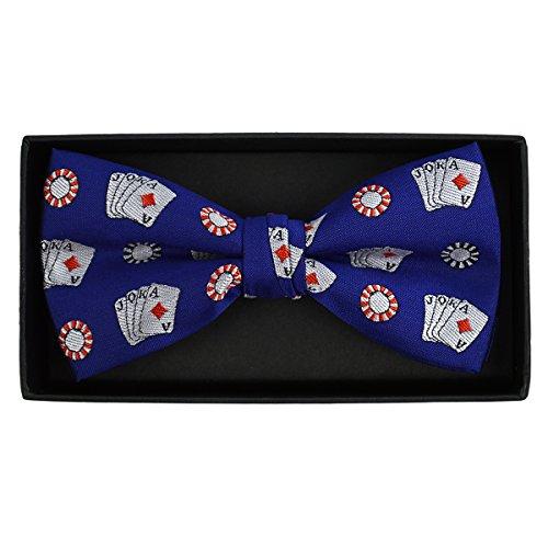 Men's Poker Chips & Card Casino Gamble Bow Tie
