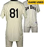 Griffin Benedict San Diego Padres Game-Used #81 White Pinstripe Uniform vs Boston Red Sox on September 7, 2016 - Fanatics Authentic Certified