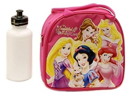 e1c0fee57e23 New Disney Princess Lunch Box Bag with Shoulder Strap and Water Bottle!!  Pink