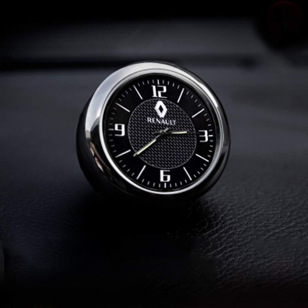 KINBEAR Car Dashboard Trim Clock Interior Accessories High Accuracy Quartz Luminous Dial with Vent Clip