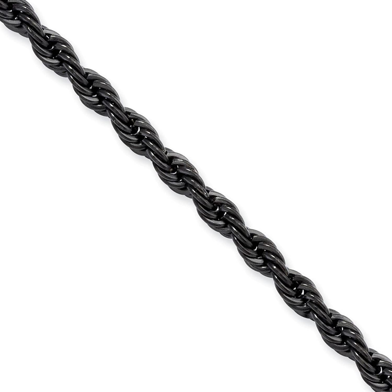 Stainless Steel IP Black-plated 4mm Rope Chain