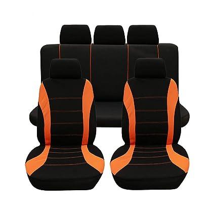 5x fundas para asientos ya referencias rojo set poliéster nuevo alta calidad para renault seat