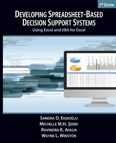 developing spreadsheet based decision support systems sandra d eksioglu michelle mh seref ravindra k ahuja wayne l winston 9780975914687