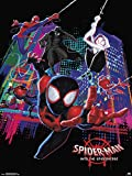 MeiMeiZ Spider-Man Into The Spider-Verse Poster Standard Size 18-Inches by 24-Inches Wall Poster Print