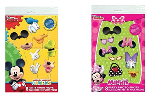 Mickey Mouse Clubhouse and Minnie Mouse Photo Booth Props, 16 pc -