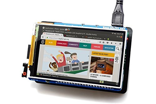 WINGONEER® Raspberry Pi 3.5 inch 800x480 60fps TFT Screen/HD HighSpeed LCD Module/3.5 inch Display For Pi 3B 2B B+ Zero/Support IR Kali