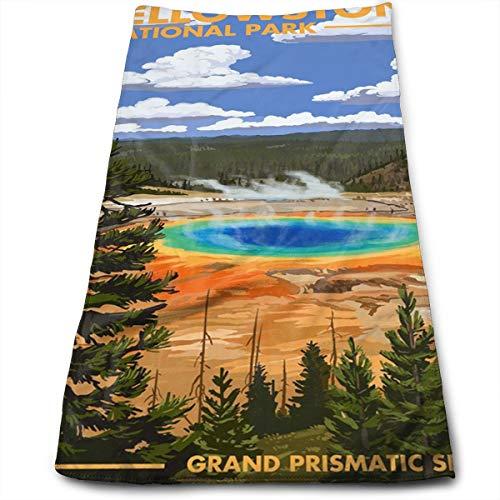 Klnsha7 National Park - Grand Prismatic Spring 100% Cotton Towels Ultra Soft & Absorbent Bathroom Towels - Great Shower Towels, Hotel Towels & Gym Towels