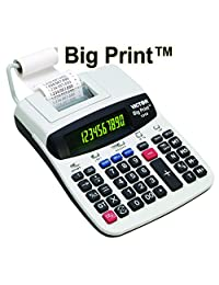 1310 Big Comercial de impresión Impresión Térmica, calculadora, Black Print, 6 líneas sec, Blanco