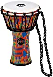 Meinl Percussion JRD-KQ Synthetic Compact Junior Djembe, 7'' Diameter, Kenyan Quilt