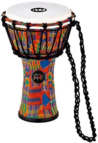 Meinl Percussion JRD-KQ Synthetic Compact Junior Djembe, 7'' Diameter, Kenyan Quilt by Meinl Percussion
