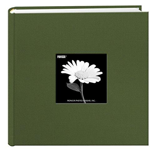 Fabric Frame Cover Photo Album 200 Pockets Hold 4x6 Photos, Herbal Green - Cloth Album