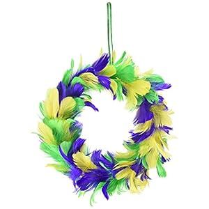 Beistle 57902-GGP Feather Wreath 69