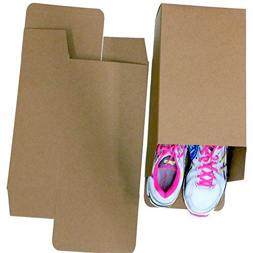 100 Bubblefast One Piece Reverse Tuck Carton Storage Shoe Boxes for Large Shoes (100) by Bubblefast