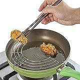 Home space Semicircular Stainless Steel Oil Drain Rack Kitchen Organizer Steamer Pot Shelf Bowl Dish Storage Holder Silver (32cm)