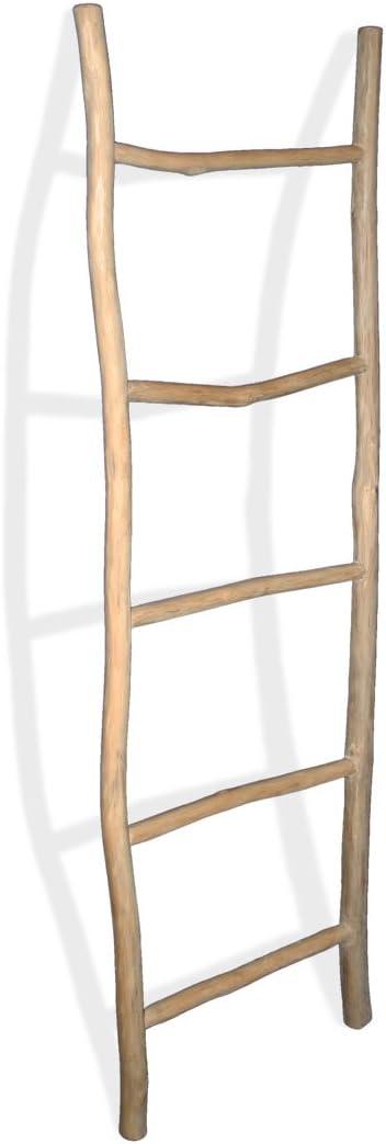 LioLiving, portatoallas, escalera decorativa de madera de teca ...