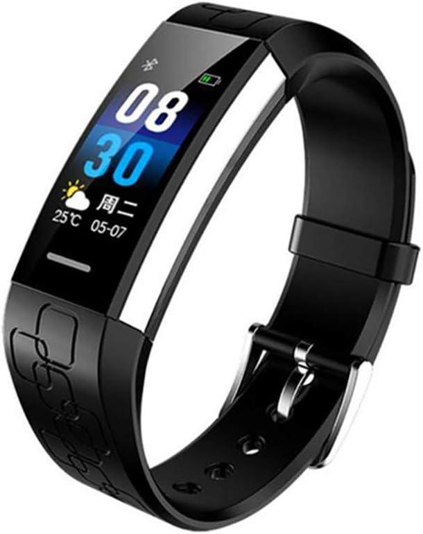 HEWE Banda Inteligente, ECG Médico rastreador de Ejercicios Muñequera Impermeable, Pulsera Bluetooth Smart Monitor de Ritmo cardíaco para Android y iPhone