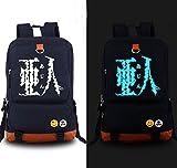 Relaxcos Demi-human Ajin Logo Blue Luminous Bag SchoolBag