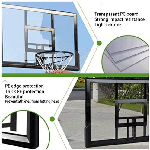 屋内バスケットボールフープバスケットボールウォールマウントボードミニバスケットボールフープ屋外バスケットボールフレームは、大人が標準バスケットボールフレームを吊るす、透明なPCボード、大人と子供のために(121 * 81センチメートル)