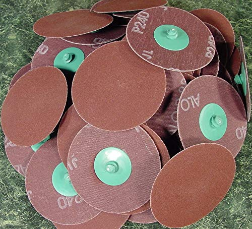 50pc 3'' ROLL Lock Sanding DISC 240 GRIT Made in Germany Heavy Duty roloc Sand by Generic