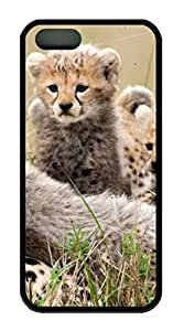 iPhone 5S/5 Case,Black Color,Soft TPU,Protective Case,Soft Case(Case can be customized)Latest style Case,Soft Cover Snap on Case,Ultra-thin Case,Protective iPhone-African Cats