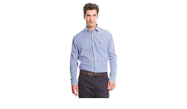 Pedro del Hierro Camisa Non Iron Classic Azul M: Amazon.es: Ropa y accesorios