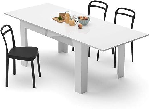 Mobili Fiver, Mesa de Cocina Extensible, Modelo Easy, Color Blanco ...