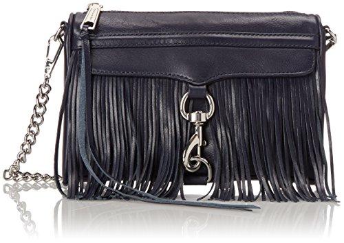 Rebecca Minkoff Fringe Mini Mac Cross Body Bag, Midnight, One Size