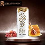 Dubai Cola® Dates & Honey Flavor 330mL cans (Pack of 24), New Flavor Lightly Carbonated Soda The 1888 Edition