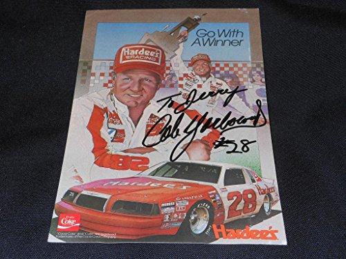 nascar-hof-cale-yarborough-signed-6x9-autograph-hardees-racing-photo-card-sr4