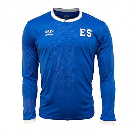 Umbro El Salvador Home Long Sleeve Jersey 17/18 (Blue/White, - Umbro Long Sleeve