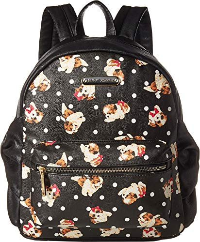 Betsey Johnson Women's Side Bow Backpack Black/Multi One Size