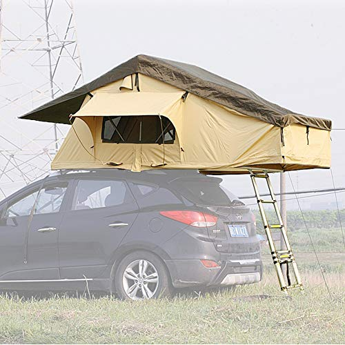 Reliancer Ranger Overland Rooftop Tent Outdoor Camping SUV Roof Top Tent for 3 Person Rainproof watrerproof Car Sun Shelter Canopy Camper for Traveling Touring Weekend Adventurer Jeep Vehicle Truck