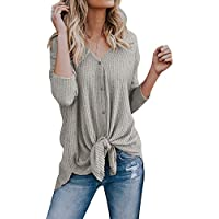 Doubleal Women's Lightweight Cardigan Sweater Fall V Neck Knitted Top