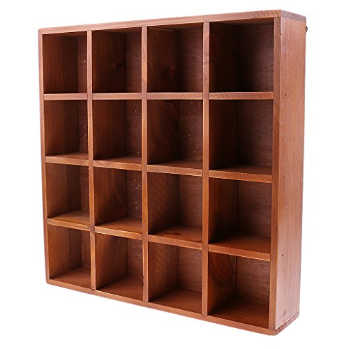 B Blesiya Wooden Home Garden DIY Cupboard Cabinet Wall Mount Shelf Case Box Shadow Case Bonsai Vase Books CDs Display