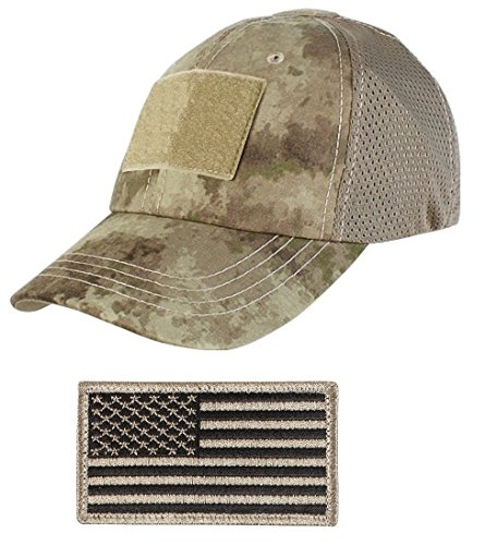 Ultimate Arms Gear Tactical Military A-Tacs Camo Camouflage Baseball Team Mesh Hat Cap + USA Flag - Trucker Team Usa Hat
