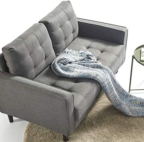 ZINUS Benton Loveseat Sofa / Grid Tufted Cushions / Easy