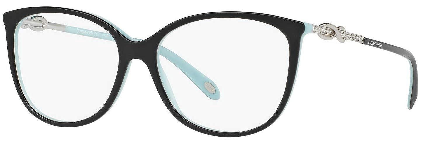 7fbbe5ed9b4 Amazon.com  Tiffany   Co. TF2143B Eyeglasses 55-15-140 Black Blue w Demo  Clear Lens 8055 TF 2143B  Clothing