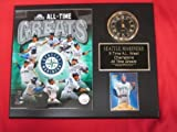 Mariners All Time Greats Collectors Clock Plaque w/8x10 Photo and Card