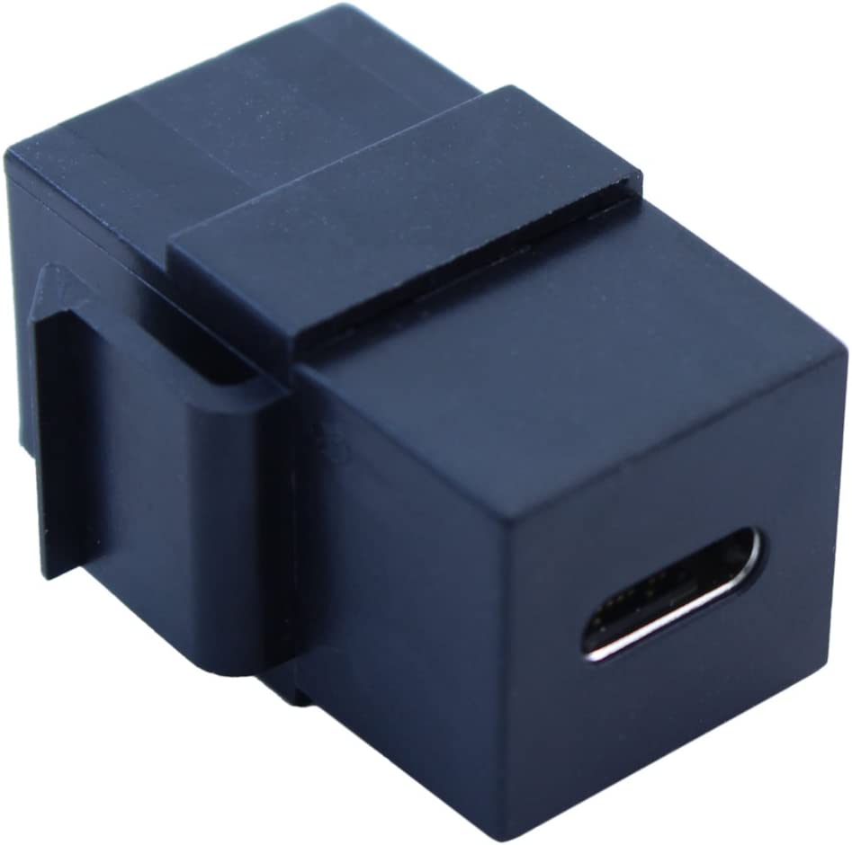 Keystone Jack USB 3 Type C Female//C Female Black Coupler Type MyCableMart Wall Plate