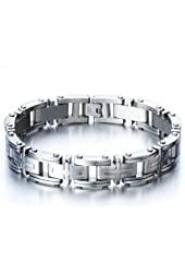 Exclusive Stainless Steel Man Jewelry Cross Link Bracelet for Men 8.85 Inches
