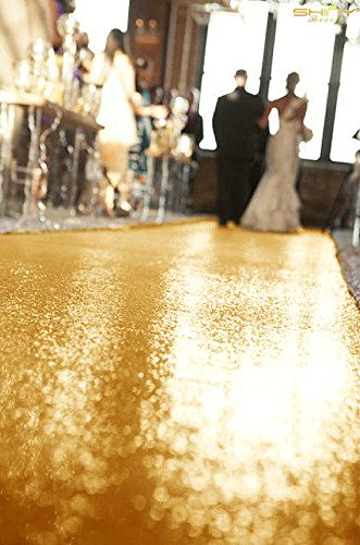 ShinyBeauty Shinny Gold-Aisle Runner-50FTX4FT,Glitter Sequin Wedding Aisles Floor Runner,Sparkle Carpet Runner (Red) by ShinyBeauty