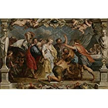 The Polyster Canvas Of Oil Painting 'Rubens Peter Paul (and Workshop) Briseida Devuelta A Aquiles Por Nestor 1630 35 ' ,size: 20 X 31 Inch / 51 X 78 Cm ,this Cheap But Art Decorative Art Decorative Prints On Canvas Is Fit For Garage Decor And Home Artwork And Gifts