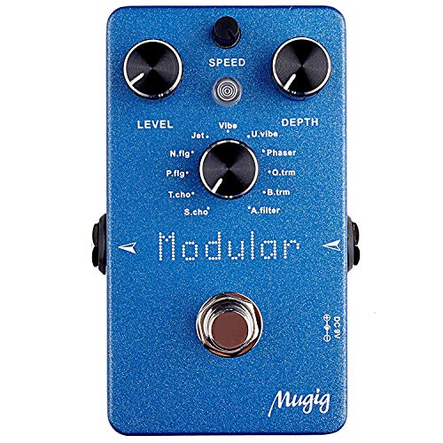 Mugig Electric Effects Pedal, Bass Guitar Effects Pedal, Multi-effects Pedal (Dark Blue)