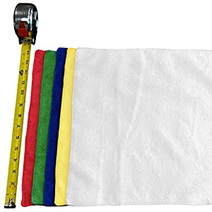 "(12-Pack) **SPECIAL SALE** 14"" x 14"" Professional Grade All-Purpose Microfiber Cleaning Towel - THE RAG COMPANY (White)"
