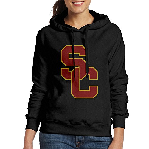 FUOALF Women's Pullover University Of Southern California USC Hoodie Sweatshirts Black XL (Hoodie Southern California)