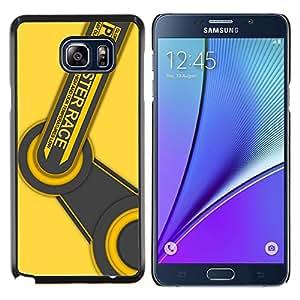 Race Master PC- Metal de aluminio y de plástico duro Caja del teléfono - Negro - Samsung Galaxy Note5 / N920