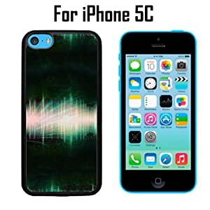 Sound Wave Recording Custom Case/ Cover/Skin *NEW* Case for Apple iPhone 5C - Black - Plastic Case (Ships from CA) Custom Protective Case , Design Case-ATT Verizon T-mobile Sprint ,Friendly Packaging - Slim Case