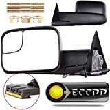 ECCPP Towing Mirrors Dodge Ram Tow Mirrors Pair Power Operation Manual Folding For 1994-1997 Dodge Ram 1500 2500 3500 Truck 1994 1995 1996 1997