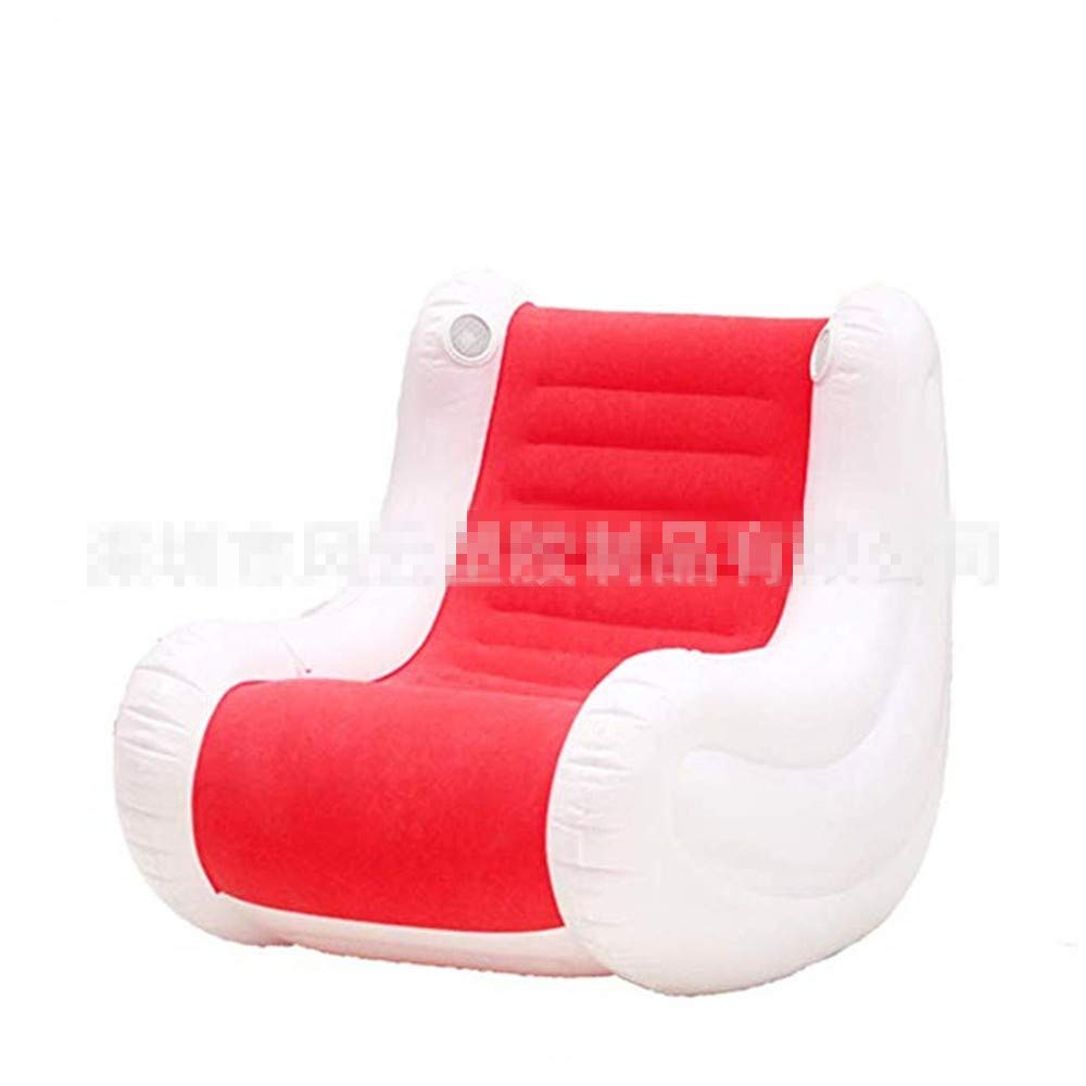YUEZHANG Sofa Hinchable,Solo Lazy Couch PVC Rojo Casual ...