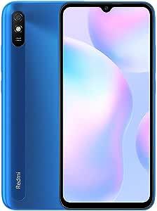 "Xiaomi Redmi 9A Smartphone 2GB RAM 32GB ROM Teléfono Móvil,Pantalla 6.53"" HD+ MTK Helio G25 Octa Core Procesador,Dual SIM Micro-SD,13 MP Cámara Trasera AI Face Unlock Global Versión (Azul): Amazon.es: Electrónica"